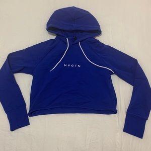 Nvgtn cobalt cropped hoodie